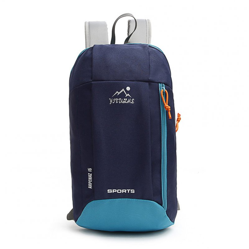 Ultralight Outdoor Backpack Kids Adult Durable Unisex Canvas Travel Bag for Hiking Camping Riding Dark blue