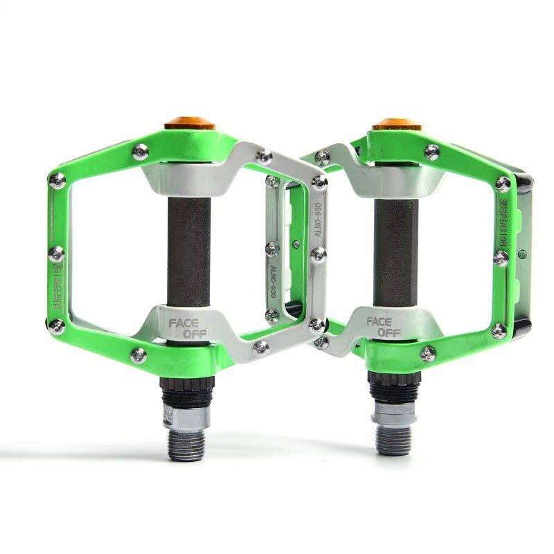 Ultralight Professional Bicycle Bike Pedals Cycling Sealed Bearing Pedals Pedal White green_a pair
