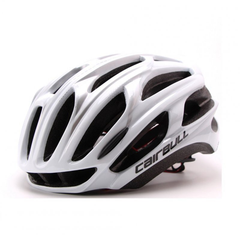 Ultralight Racing Cycling Helmet with Sunglasses Intergrally molded MTB Bicycle Helmet Mountain Road Bike Helmet white_L (57-63CM)