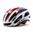 Ultralight Racing Cycling Helmet with Sunglasses Intergrally molded MTB Bicycle Helmet Mountain Road Bike Helmet Red and blue M  54 58CM