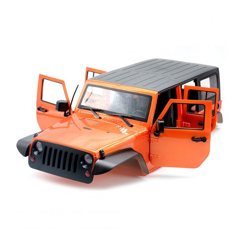Unassembled  12.3inch 313mm Wheelbase Car Body Shell for 1/10 RC Crawler Axial SCX11 SCX10 90046 90047 Jeep Wrangler Orange