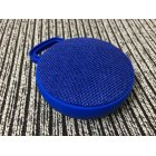 Unique Chic Circular Fabric Art Speaker Wireless Bluetooth Portable Hook Subwoofer  blue