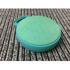 Unique Chic Circular Fabric Art Speaker Wireless Bluetooth Portable Hook Subwoofer  green