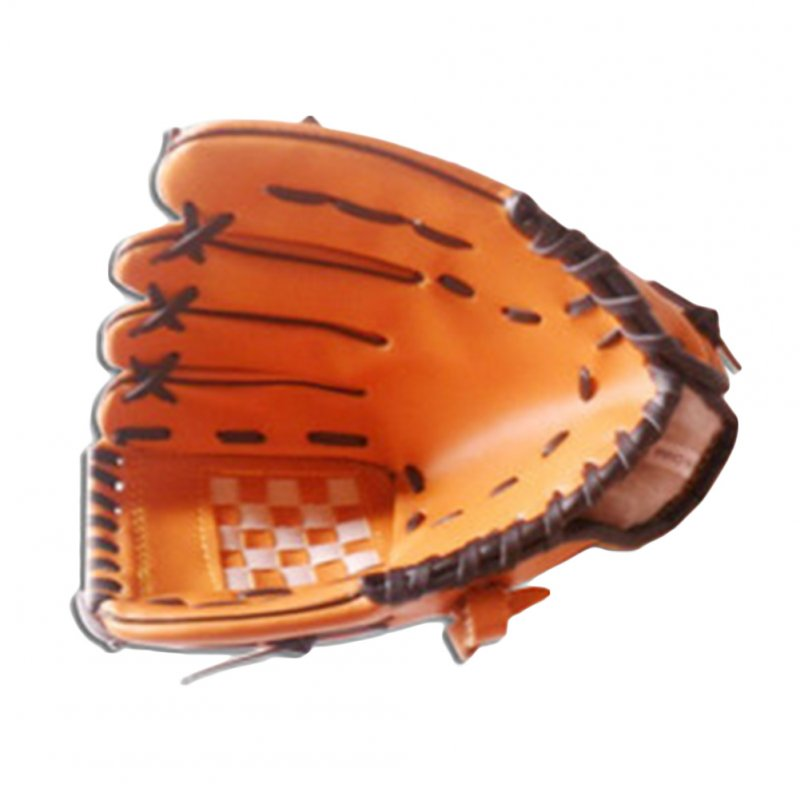 Unisex 11.5 Inches Baseball Glove Comfortable Brown Pitcher Glove for Adult (Single)