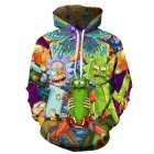 Unisex 3D Digital Stylish Print Hooded Baseball Sweatshirts Fashion Pullover Tops as shown_S