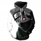 Unisex 3D Digital Stylish Cartoon Print Hooded Baseball Sweatshirts Fashion Pullover Tops Kakashi_XL