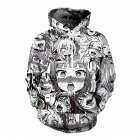 Unisex 3D Funny Expression Print Fashion Sports Casual Sweatshirt  Cartoon_M