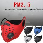 Unisex Activated Carbon Dust   proof Sports Healthy Mask Riding Sports Mask  red One size