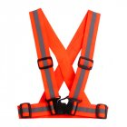 Adjustable Reflective Vest Neon Orange