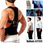 Unisex Back Posture Corrector Magnetic Adjustable Posture Brace Back Support Belt S