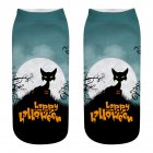 Unisex Cartoon 3D Halloween Element Printing Socks Breathable Sweat Absorbent Socks   WSJ05 one size
