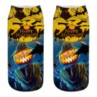 Unisex Cartoon 3D Halloween Element Printing Socks Breathable Sweat-Absorbent Socks   WSJ03_one size