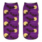 Unisex Cartoon 3D Halloween Element Printing Socks Breathable Sweat-Absorbent Socks   WSJ12_one size