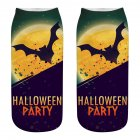 Unisex Cartoon 3D Halloween Element Printing Socks Breathable Sweat-Absorbent Socks   WSJ11_one size