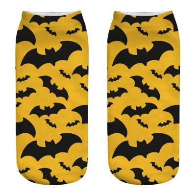Unisex Cartoon 3D Halloween Element Printing Socks Breathable Sweat-Absorbent Socks   WSJ17_one size