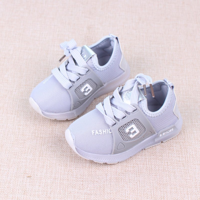 Unisex LED Anti-skid Baby Shoes gray
