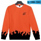 Unisex Cool Naruto Anime 3D Printed Round Collar Sweatshirts Sweater Coat B style_XL