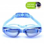 Unisex Electroplated Plain Swimming Goggles Waterproof Anti fog Anti uv Swimming Glasses
