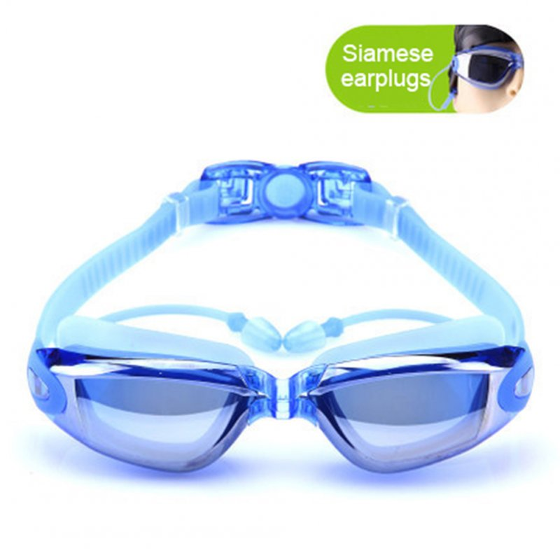 Unisex Electroplated Plain Swimming Goggles Waterproof Anti-fog Anti-uv Swimming Glasses