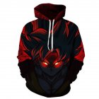Unisex Fashion 3D Dragon Ball Pattern Printed Casual Tops Hoodies Photo Color_S