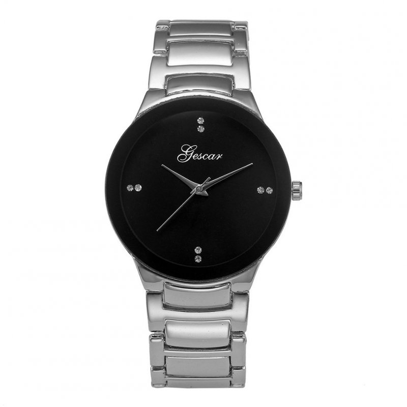 Unisex Fashion Casual Quartz Watch Round Dial Wristwatch for Valentine's Day Couple