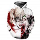 Unisex Fashion Clown 3D Digital Printing Lovers Hoodies clown L
