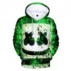 Unisex Fashion DJ Marshmello 3D Pattern Long Sleeve Hoodies Sweater Section A_XXL