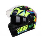 Unisex Full Face Motorcycle Helmet Racing Head Protector JK A6 M