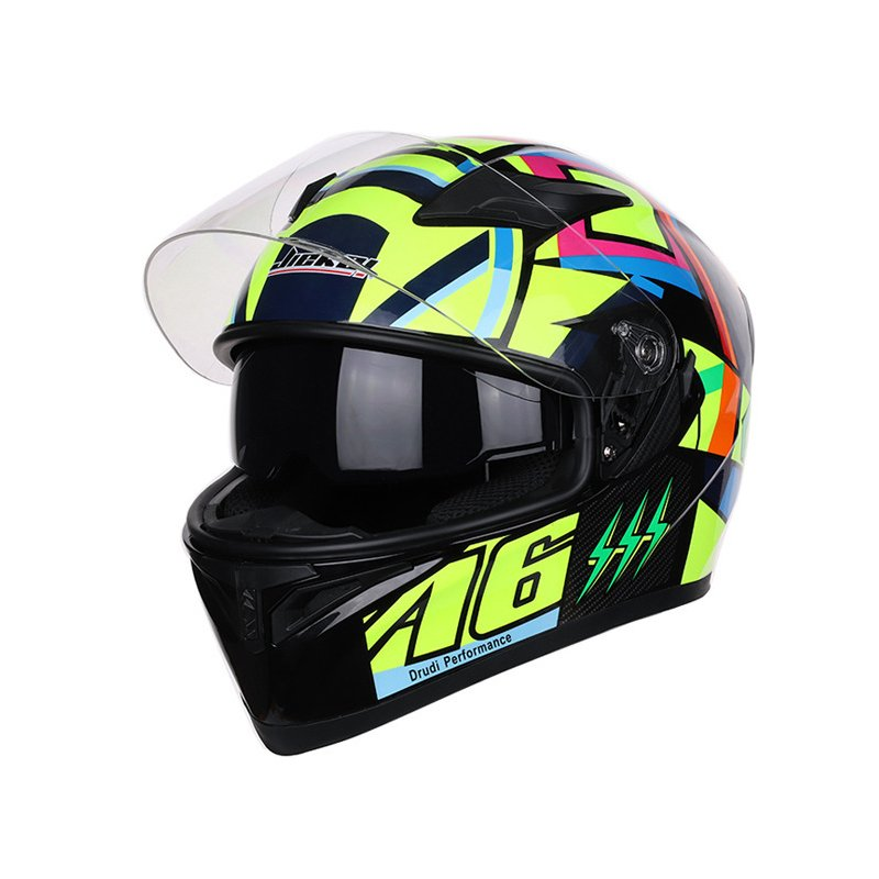 Unisex Full Face Motorcycle Helmet Racing Head Protector JK-A6_M