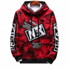 Unisex Hip hop Style Fashion Camouflage Pattern Printing Stylish Hoody  Camouflage red 3XL