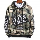 Unisex Hip-hop Style Fashion Camouflage Pattern Printing Stylish Hoody  Camouflage green_XL