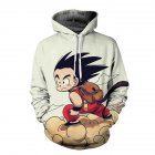 Unisex Hoodie Cartoon 3D Sun Wukong Print Sweater Sweatshirt Jacket Coat Pullover Graphic Tops as shown XXL