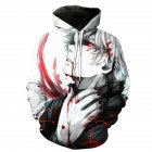 Unisex Japan Anime Character 3D Print Casual Hoodies Sweatshirt Pullover Tops as shown_M