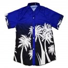 Unisex Men Women Stylish Coconut Tree Printing Hawaii Beach Shirt