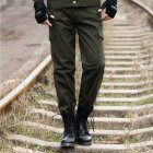 Unisex Overalls Trousers Tactical Training Trousers Loose Wear resistant Pants Army Green Four Pockets  185 2XL