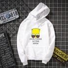 Unisex Simpson Cute Pattern Printing Hoodies Couple Pullover Hoodies white_M