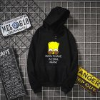 Unisex Simpson Cute Pattern Printing Hoodies Couple Pullover Hoodies black M
