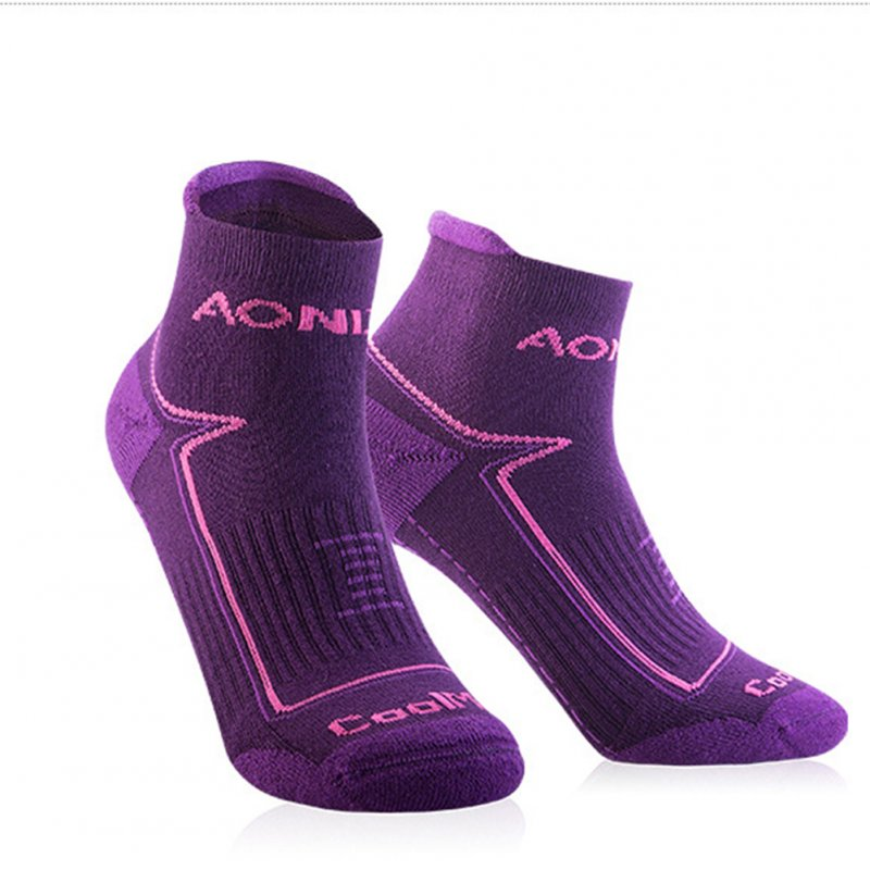 Unisex Sports Napping Socks Wearproof Antiskid Breathable Anti-sweat Socks for Outdoor Sports  Purple S