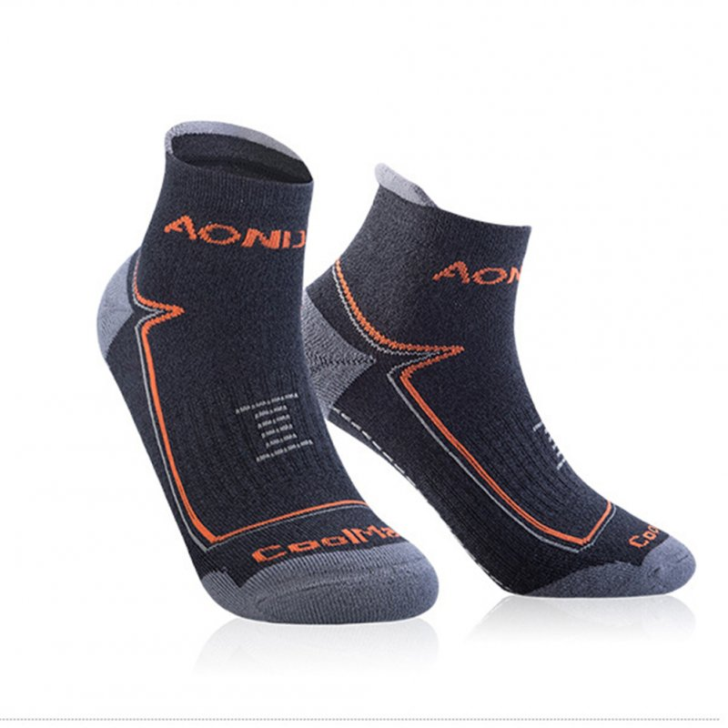 Unisex Sports Napping Socks Wearproof Antiskid Breathable Anti-sweat Socks for Outdoor Sports  Dark gray L