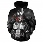 Unisex Stylish Drawstring 3D Printed Long Sleeve Hoodies 116_L
