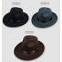 Unisex Wool Felt Fedora Hat Classic Men Wide Brim Fedoras Jazz Cap for Head Size 58 60cm Black L  58 60cm