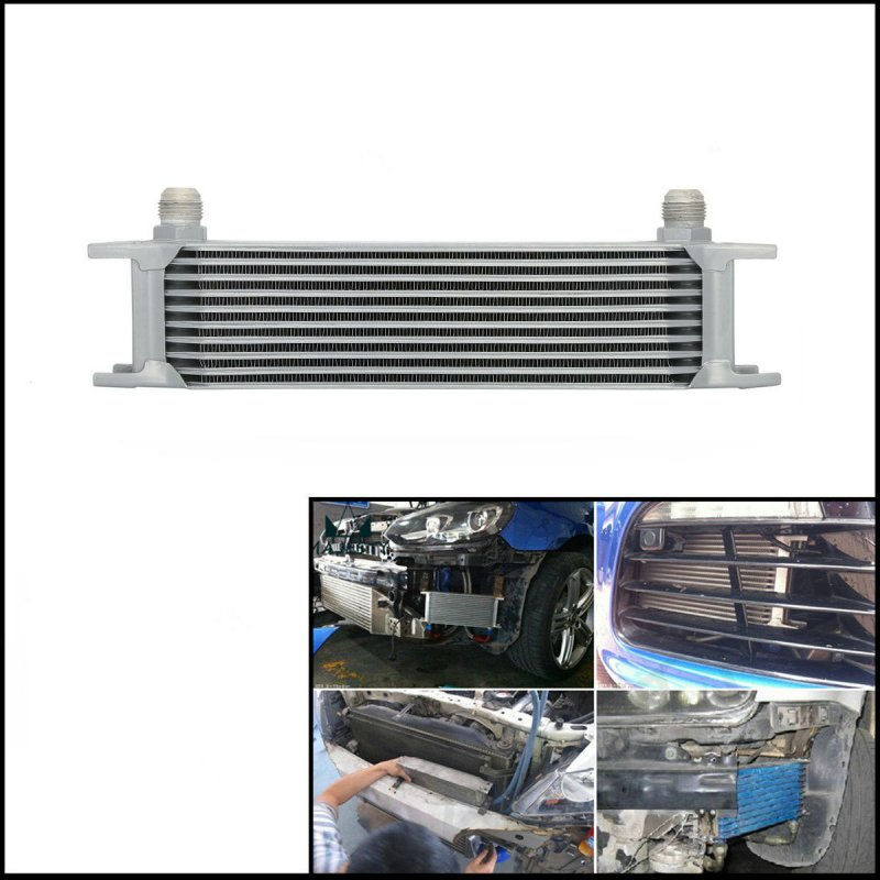 Universal 10 Row AN10 Engine Transmission Oil Cooler