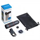 Universal 18x25 Monocular Zoom HD Optical Cell Phone Lens 18X Telephoto Lens for Smartphone    Without a tripod