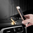 Universal 360°GPS Magnetic Car Mount Stand Holder Mobile Phone Bracket Gold