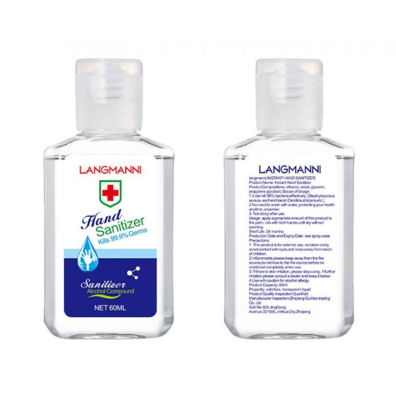 Universal 50/60ml Hand Sanitizer Alcohol-Free Hand Gel Disinfectant Antibacterial