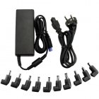Universal AC DC smart laptop power adapter with ten connectors for powering most major brands of notebook computers