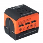 Universal Abroad Converter Charging Power Adapter British European Standard Portable Travel Socket Middle orange - multi-country travel outlet