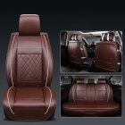 Universal All Car Leather Support Pad Car Seat Covers Cushion Accessories Brown Standard single