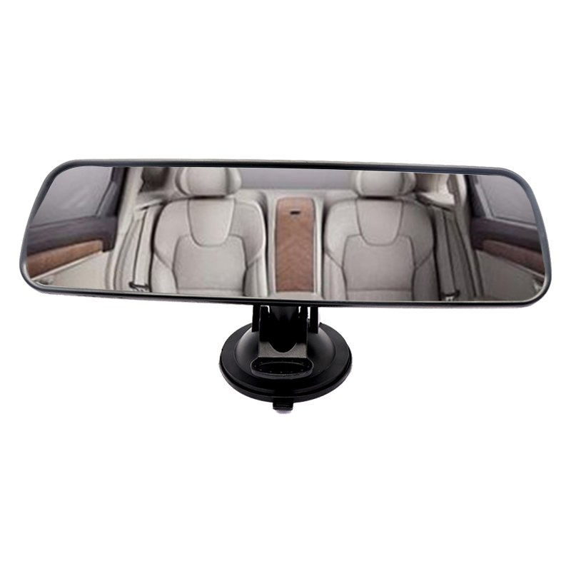 Universal Black Car Truck Mirror Interior Rear View Mirror Suction Rearview Mirror 1pc black_AP3779
