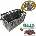 Universal Breathable Cleaning Basket for Dish Washing Machine gray